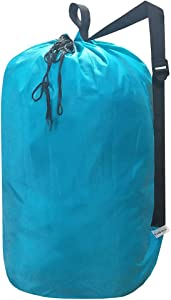 UniLiGis Washable Laundry Bag with Strap, Laundry Backpack with Drawstring, Combined Use of Laundry Basket or Clothes Hamper, Can Hold 3 Loads of Laundry for Travel Dorm College,Blue Aqua