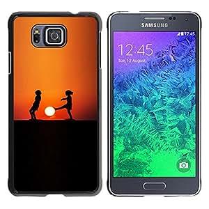 Caucho caso de Shell duro de la cubierta de accesorios de protección BY RAYDREAMMM - Samsung ALPHA G850 - Sunset Niños