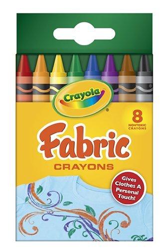 18 Pack CRAYOLA LLC FORMERLY BINNEY & SMITH CRAYOLA FABRIC CRAYONS 8PK