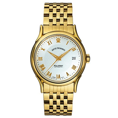 Revue Thommen Men's 20002-2112 Wallstreet Tradition Analog Display Swiss Automatic Gold Watch