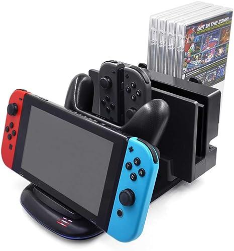 Welltop Cargador del controlador para Nintendo Switch, Estación de ...