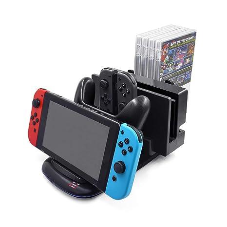 Welltop Cargador del controlador para Nintendo Switch ...