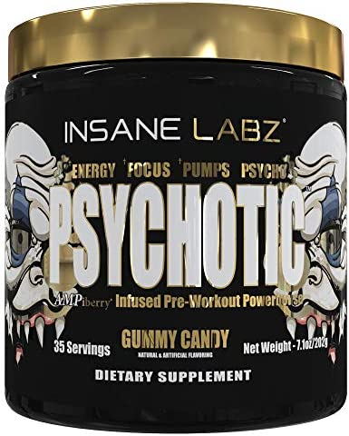 Insane Labz Psychotic Gold and Insane Veinz Gold Pre Workout Nitric Oxide Booster Stack