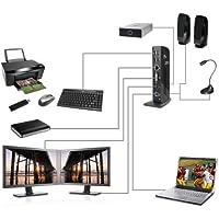 SIIG JU-DK0111-S1 USB 3.0 Dual Head Docking Station - USB docking station - LAN GigE