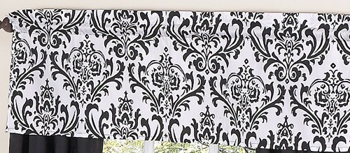 Black and White Isabella Girls Window Valance by Sweet Jojo Designs, Baby & Kids Zone