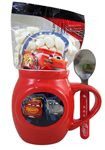 Disney Cars 3 Christmas Mug and Spoon Gift Set with Cocoa Mix and Marshmallows, 1.70 oz (Cars 3)