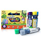 Dab and Dot Markers Superboy Shimmer Washable Paint Art Dauber Markers in Silver, Red, Orange, Blue, Green