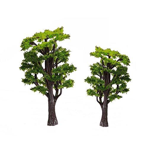12pcs 1.2 inch - 6.3 inch 1/50 Green Model Tree Train Set Scenery Landscape