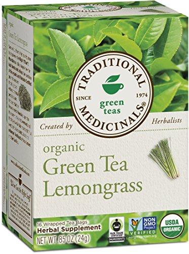 Medicinals traditionnels, Thé vert bio citronnelle, 16 comptage enveloppé sachets de thé (pack de 6)