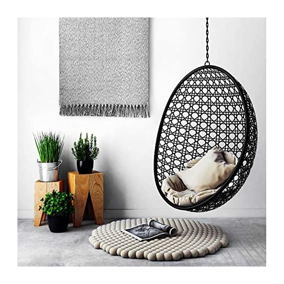 """Ustide Hand Woven Rug Braided Rug Gray White Cotton Reversible Rug with Tassels Floor Runner for Laundry Room/Kitchen/Bathroom/Bedside 23.6""""x70"""" - Each rug is hand made and hand woven to add style and durability Cotton material, more soft and environmental friendly; Tassel design, bring you a unique feeling. Recycled fabric with various colors makes for a great accent in any home décor; Thickness: 0.7cm - runner-rugs, entryway-furniture-decor, entryway-laundry-room - 51OvYx8WQjL. SS570  -"""