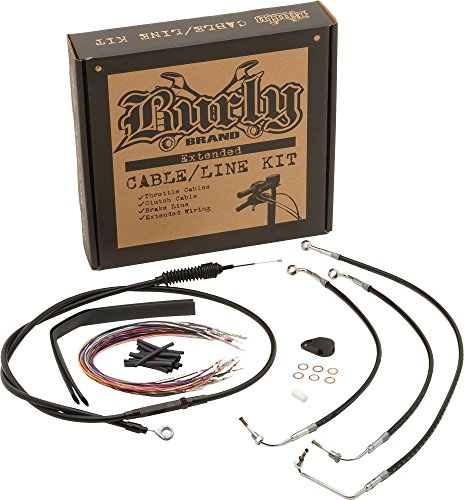 Burly Brand Cable/Brake Line Kit for Ape Hangers for Harley Davidson 1996-2005 FXD Models - ()