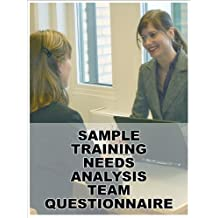 TRAINING NEEDS ANALYSIS SAMPLE TEAM QUESTIONNAIRE