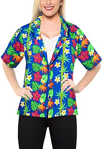 Women Hawaiian Shirt Beach Top Blouses Casual Aloha Holiday Tank Collar Boho