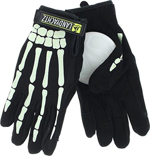 Landyachtz Bones Slide Gloves [Large] Black/Glow