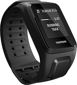 TomTom Spark Cardio Music-Reloj Deportivo, Talla Grande, Color Negro, Hombre, L