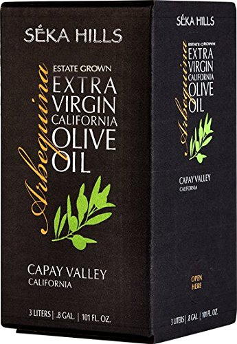 Seka Hills Premium Extra Virgin California Olive Oil 3 Ltr (101 Fl. Oz.) Bag in Box by Seka Hills