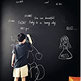 Moyishi Large Chalkboard Decal Black Wall Sticker Adhesive Contact Paper (24''x79'')