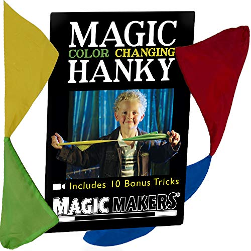 Magic Color Changing Hanky by Magic Makers - Easy to Perform Visual Illusion from Magic Makers
