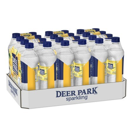 Deer Park Sparkling Natural Spring Water, Lemon, 16.9 Fl Oz, 24 Count -