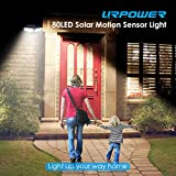 URPOWER Solar Lights Outdoor, Upgraded Two-Sided