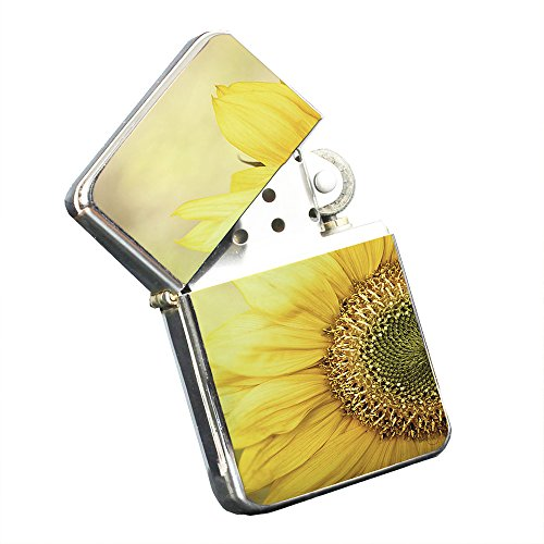 Sunflower Yellow - Silver Chrome Pocket Lighter by Elements of (Chrome Sunflower)