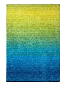 The Red Carpet Highlight Shaggy Collection, 160 Cm X 230 Cm - Blue, Green And Yellow