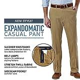 Haggar Men's Expandomatic Casual Stretch Solid