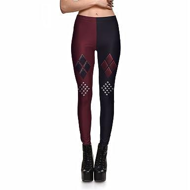 Kfsasa Leggings Mode Femmes Rouge et Noir Diamant Géométrique Leggings 3D  Imprimer Sexy Slim Fitness Leggings Pantalon  Amazon.fr  Vêtements et  accessoires 2c9c147bec5