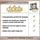 Rustic Wood Bead Garland for Decor, Farmhouse