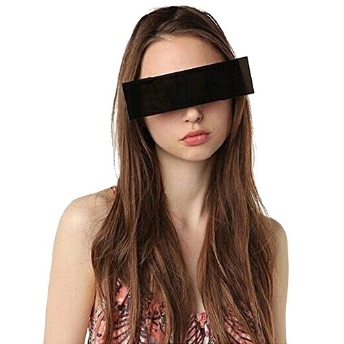 Party Glasses,Cool Glasses,Funny Glasses,Bar Glasses Ballroom,Internet Censorship One-Piece Black Bar Novelty Sunglasses