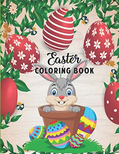 Easter Coloring Book.: An Adult Coloring Book with Fun, Easy, and Relaxing Easter Designs.