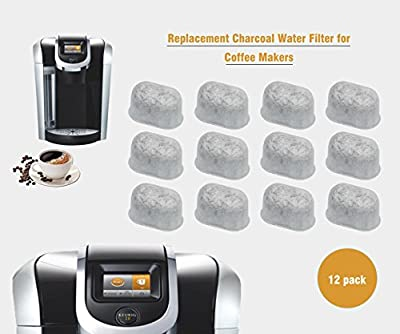Activated Charcoal Water Purification Filters - For Keurig - Universal - Easy to Replace and Remove - Purifying from Chlorine, odors, and others impurities - Pack of 12 Pieces - Home Kitchen & Dining