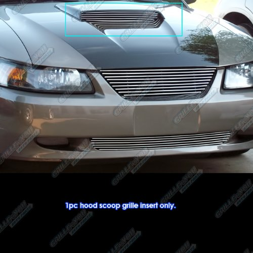 APS for 1999-2004 Ford Mustang GT V8 Hood Scoop Billet Grille Grill Insert #N19-A02066F