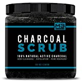 Best Acne Scar Treatments - Premium Activated Charcoal Scrub 10 oz.- All Natural Review
