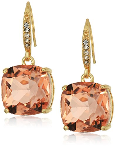 T Tahari Uptown Jewels Women's Btgd Lpch Casted Fh Drop Earrings, Color: Gold, One Size