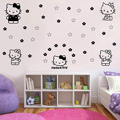 Imprinted Designs Hello Kitty Inspired Wall Decal Sticker Art - 7