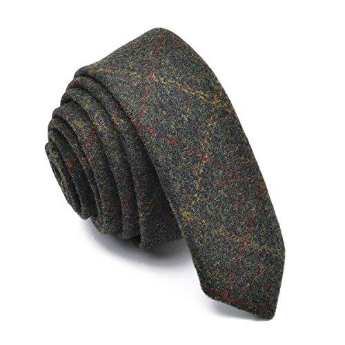 BOTVELA Mens Necktie Skinny Tie Tweed Pattern Woolen Neck Tie (7) by BOTVELA