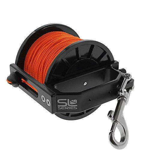 Dive Rite Slide Lock Primary Reel, 400 ft #24 Orange Line