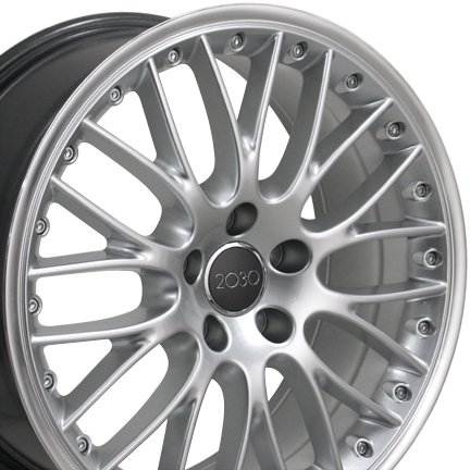 18-inch Fits Audi - A3 Aftermarket Wheels - Hyper Silver Machined Lip 18x8 - Set of 4