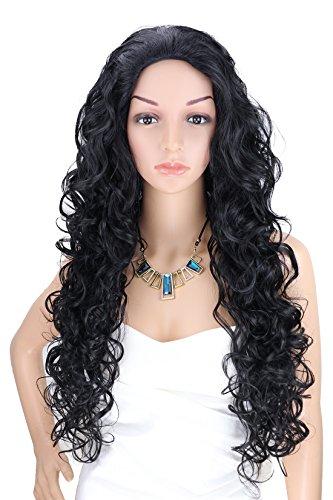 Kalyss Women's Long Curly Black Hair wigs (Used Wigs For Sale)