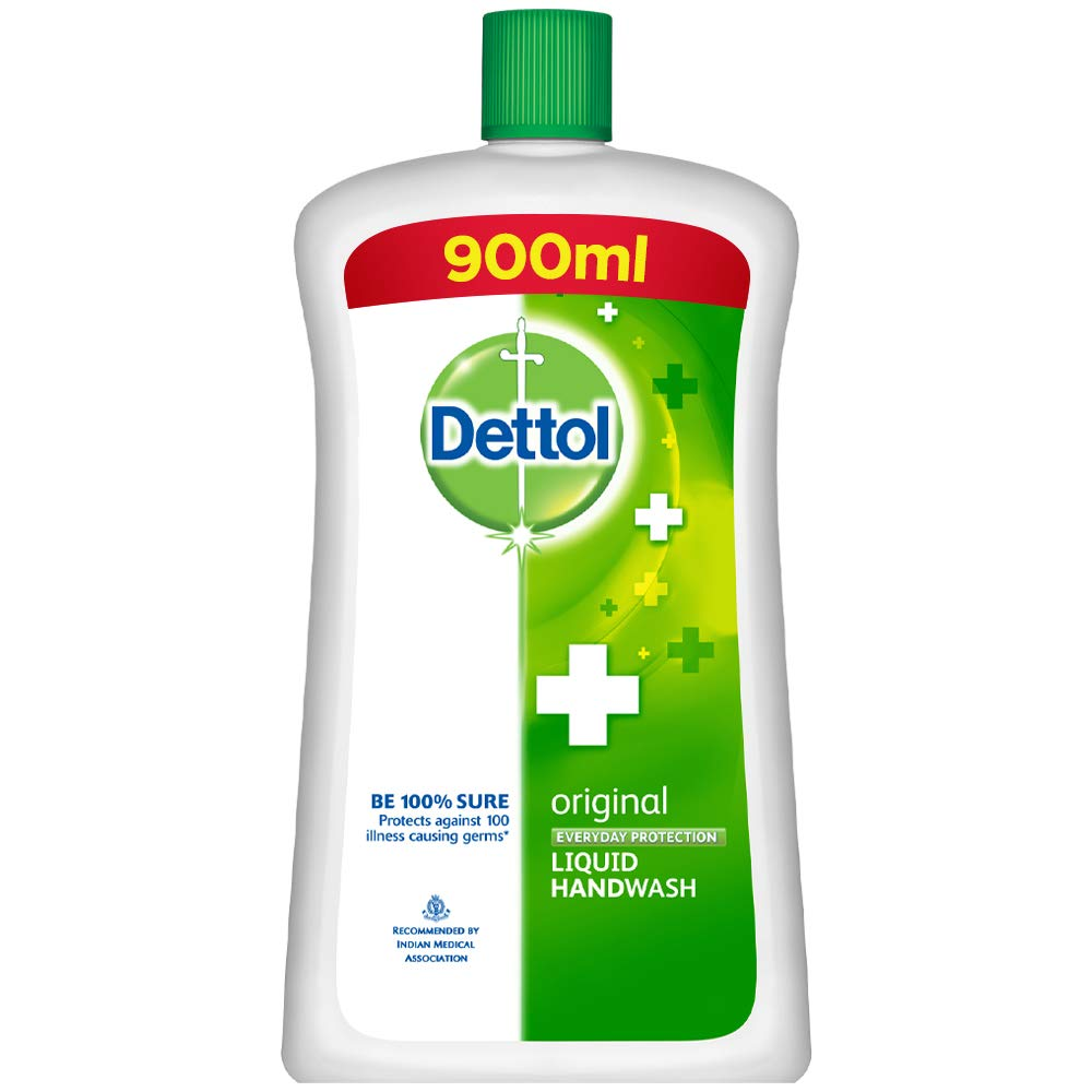 Dettol Original Germ Protection Handwash Liquid Soap Jar, 900ml