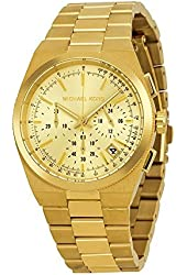 Michael Kors Channing Champagne Dial Gold-tone Ladies Watch MK5926