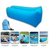 Inflatable Lounger Couch with Carry Bag Hammock Air Sofa Inflatable Bed Pool Float for Indoor/Outdoor Hiking Camping,Beach,Park,Backyard Waterproof Durable (Blue)