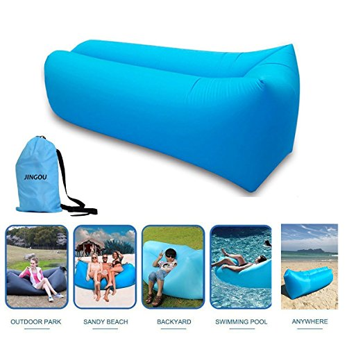 Inflatable Lounger Couch with Carry Bag Beach Lounger Air Sofa Inflatable Couch Bed Pool Float for Indoor/Outdoor Hiking Camping,Beach,Park,Backyard...