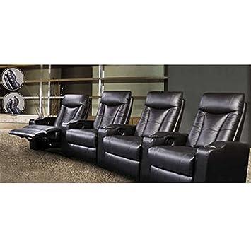 Coaster St Helena Four Seat Home Theater Set-Black 600130-4