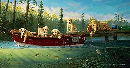 SUNSOUT INC Fishing Lessons 500 pc Jigsaw Puzzle (Puzzles Dog 500 Piece)
