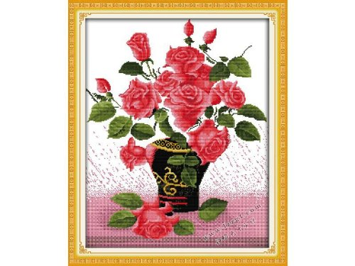 Happy Forever Cross Stitch, Flowers, fall in love at first s