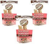 6-Count Earth Animal No-Hide Salmon Chews 7'' (3 Packages with 2 Chews Each)