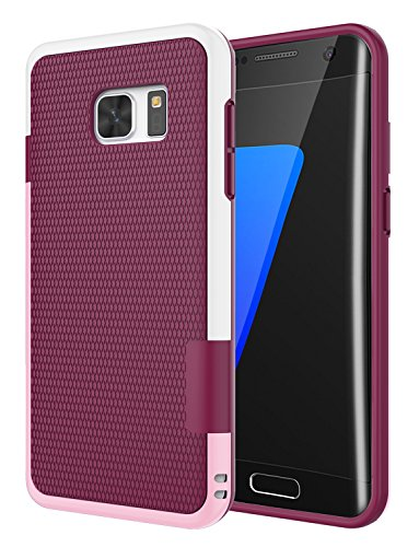 Galaxy S7 Edge Case, Jeylly [3 Color] Slim Hybrid Impact Rugged Soft TPU & Hard PC Bumper Shockproof Protective Anti-slip Case Cover Shell for Samsung Galaxy S7 Edge S VII Edge G935 - Wine