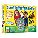 Insect Lore Caterpillars to Butterfly Kit, Deluxe 18 Voucher For 5 Caterpillars, Butterfly Growing Garden